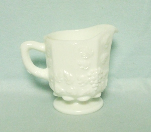 Westmoreland Paneled Grape Milkglass Small Creamer - Product Image