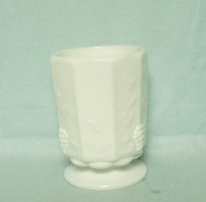 Westmoreland Paneled Grape Milkglass Med. Open Sugar - Product Image