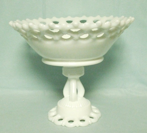 "Westmoreland Milkglass Doric 9"" Ftd. Bell Bowl DO-30 - Product Image"
