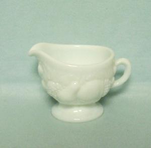 Westmoreland Milkglass Della Robbia Creamer - Product Image