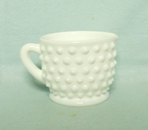 Fenton Hobnail Milkglass #3900 Individual Creamer - Product Image