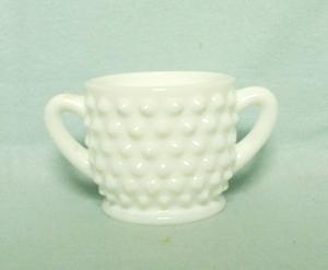 Fenton Hobnail Milkglass #3900 Individual Sugar - Product Image
