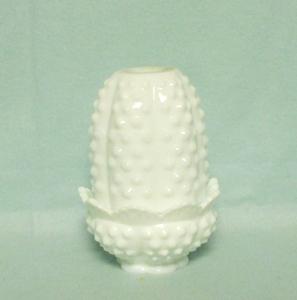 Fenton Hobnail Milkglass #3608 Fairy Lamp - Product Image