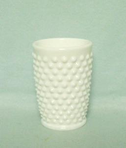 Fenton Hobnail Milkglass #3945 5oz. Tumbler - Product Image
