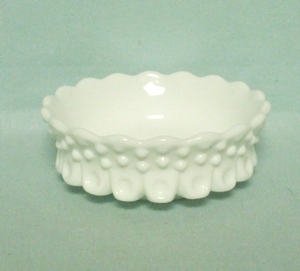 Fenton Hobnail Milkglass #3630 Ice Cream or Nut Dish - Product Image