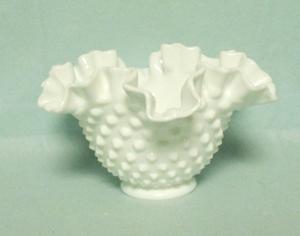 "Fenton Hobnail Milkglass # 6 1/2"" DC Bowl - Product Image"
