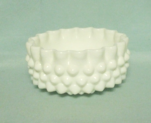 Fenton Hobnail Milkglass Large Hobbs Sugar Bowl - Product Image