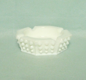Fenton Hobnail Milkglass #3876 Small Octagonal Ashtray - Product Image