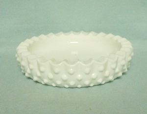 "Fenton Hobnail Milkglass #3776 6 1/2"" Round Ashtray - Product Image"