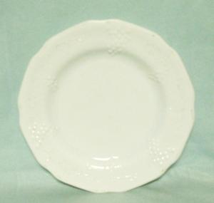 "Indiana Glass Milkglass Harvest Grape Pattern 8""Salad Plate - Product Image"