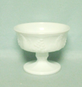 Indiana Glass Milkglass Harvest Grape Pattern Footed Sherbert - Product Image