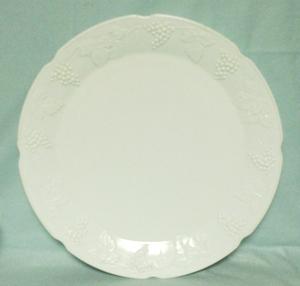 Indiana Glass Milkglass Harvest Grape Pattern Serving Platter - Product Image