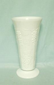 Indiana Glass Milkglass Harvest Grape Pattern Small Jardiniere - Product Image