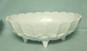Indiana Glass Milkglass Harvest Grape Pattern Fruit Bowl - Product Image