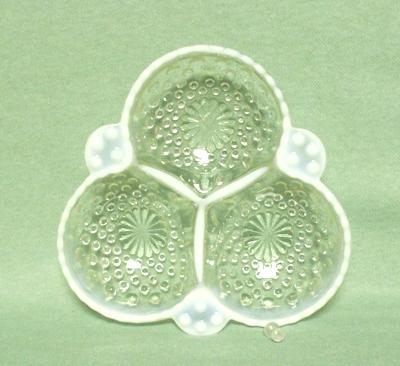 Moonstone Opalescent Hobnail Cloverleaf Bowl - Product Image