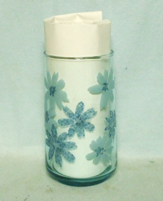 "50s Anchor Hocking Blue Misty Daisy 4 3/4"" Water Glass - Product Image"