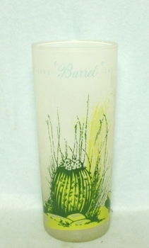 "50s Deco Frosted ""Blakely Oil Barrel Cactus""Iced Tea Glassr - Product Image"