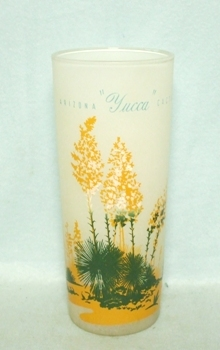 "50s DecoFrosted ""Blakely Oil Yucca Cactus"" Iced Tea Glass - Product Image"