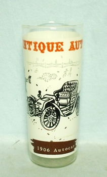 50s Frosted Antique Auto 1906 Auto Car Old Car Glass - Product Image