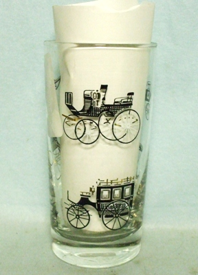 50s Libbey Black Carriage Large Water Glass - Product Image