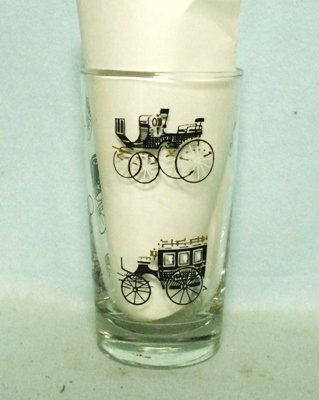 50s Libbey Black Carriage Medium Water Glass - Product Image
