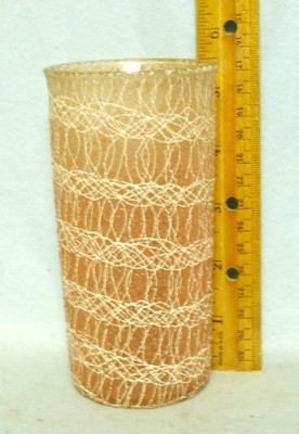 50s Light yellow Rubberized Spagetti String Tumbler. - Product Image
