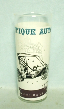 50s White Antique Auto 1906 Auto Car Old Car Glass - Product Image