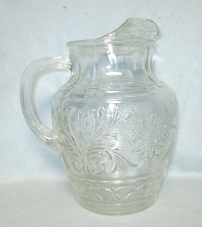 A.H. Clear Sandwich Glass 1/2 Gal Pitcher - Product Image