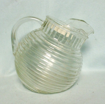 A.H. Manhattan Crystal Tilt Ball Pitcher w Ice Lip - Product Image