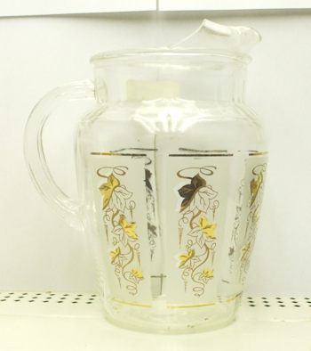 A.H. Gold Ivy w Frosted Panels Pitcher w Ice Lip - Product Image