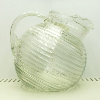 A.H. Manhattan Crystal Tilt Ball Pitcher w Ice Lip - Product Image