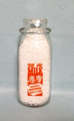 Anderson Erickson Dairy 1/2 Pint Square Milk Bottle - Product Image