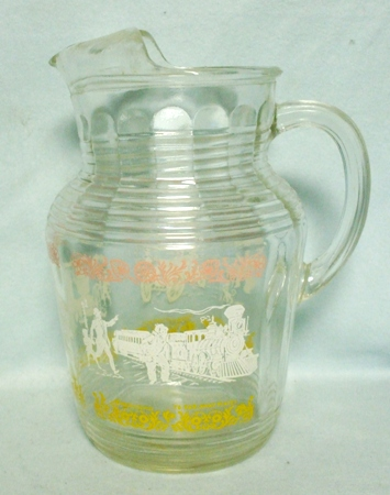 Barlette Collins Clear Etched Grape Pitcher w Ice Lip - Product Image