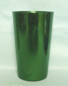 "Bascal Dark Green 4 1/2"" Aluminum Glass - Product Image"