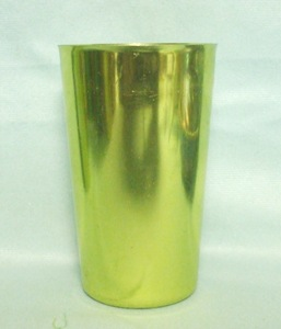 "Bascal Dark Metallic Green 4 1/2"" Aluminum Glass - Product Image"