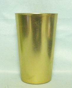 "Bascal Metallic Gold 4 1/2"" Aluminum Glass - Product Image"