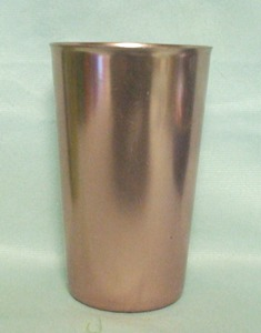 "Bascal Metallic Pink 4 1/2"" Aluminum Glass - Product Image"