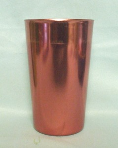 "Bascal Metallic Red 4 1/2"" Aluminum Glass - Product Image"