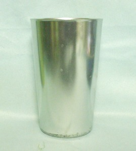 "Bascal Silver 4 1/2"" Aluminum Glass - Product Image"