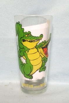 Brutus & Nero 1977 Warner Bros.Rescurers Pepsi Collector Glass. - Product Image