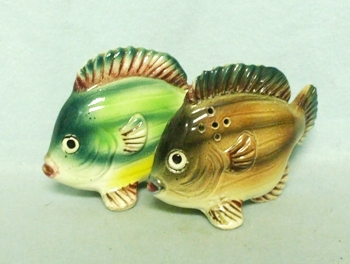 Ceramic Made in Japan Fish Salt & Pepper Set - Product Image