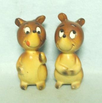 Ceramic Mr & Mrs Bear Salt & Pepper Set - Product Image