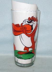 Daffy & Taz 1976 Warner Bros.Pepsi Collector Glass - Product Image