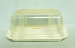Farmer's Coop Slater Iowa Clear Plastic 1# Butter & Lid - Product Image