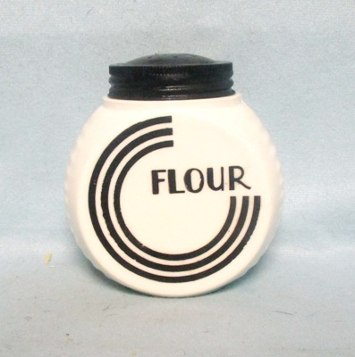 Fire king Black Circles on Vitrock Flour Shaker - Product Image