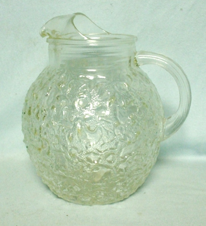 Fire king Lido Clear 80oz.Upright Ball Pitcher - Product Image