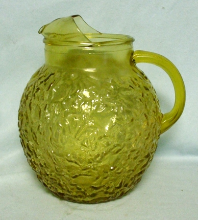 Fire king Lido Honey Gold 80oz.Upright Ball Pitcher - Product Image