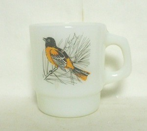 Fireking Baltimore Oriole & Cardinal Bird Stackable Mug - Product Image