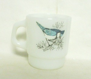 Fireking Blue Jay & Baltimore Oriole Stackable Mug - Product Image