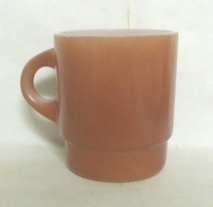 Fireking Lt. Brown w Black Base Stackable Mug - Product Image